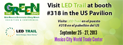LED Trail at the GREEN Expo 2013 in Mexico City