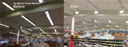 Supermarket Lighting Design: Taj Mahal Fresh Market